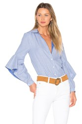 Bcbgmaxazria Thelma Button Up Blue