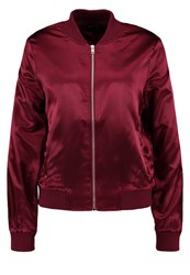 Only Onlstarly Bomber Jacket Winetasting Dark Red