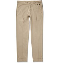 Michael Bastian Slim Fit Stretch Cotton Gabardine Trousers Neutrals