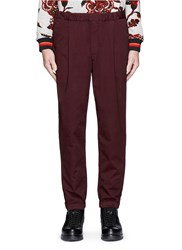 Mcq By Alexander Mcqueen Elastic Cuff Cotton Track Pants Red Purple