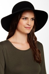 Phenix Round Crown Floppy Wool And Leather Hat Black