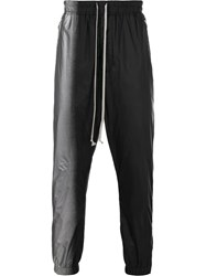 Rick Owens Two Tone Track Pants Black