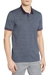 Ted Baker Men's London Sandway Mouline Golf Polo Charcoal