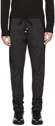 Dolce And Gabbana Grey And Black Patterned Lounge Pants