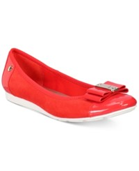Anne Klein Sport Aricia Flats Only At Macy's Red