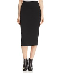 Eileen Fisher System Fold Over Knit Skirt Black