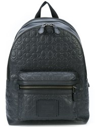 Coach Signature Embossed Academy Backpack Grey