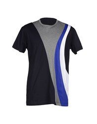 Dirk Bikkembergs Topwear T Shirts Men Grey
