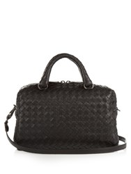 Bottega Veneta Intrecciato Small Leather Bowling Cross Body Bag Black