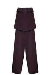Joseph Jake Crepe Jumpsuit Purple