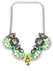 Ortys Scalloped Wire Frame Necklace