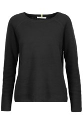 Duffy Cotton And Cashmere Blend Sweater Black