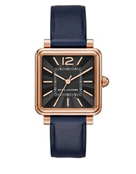 Marc Jacobs Stainless Steel And Single Prong Buckle Watch Navy Blue