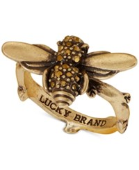Lucky Brand Gold Tone Bee Statement Ring
