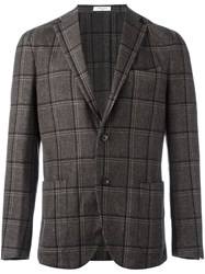Boglioli Plaid Single Breasted Blazer Multicolour