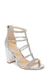 Jewel Badgley Mischka 'S Tiffy Glitter Sandal Silver Glitter