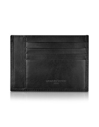 Giorgio Fedon Classica Collection Black Calfskin Card Holder