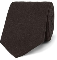 Kingsman Drake's 8Cm Brushed Wool Tie Brown