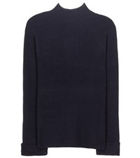 The Row Angel Cashmere And Silk Sweater Blue