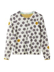 White Stuff Spotty Printed Cardi Multi Coloured Multi Coloured