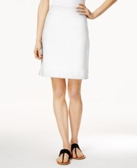 Charter Club Petite Pull On Skort Only At Macy's Bright White