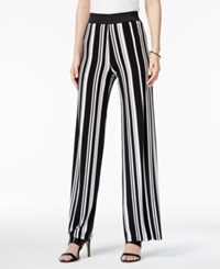 Alfani Striped Palazzo Pants Only At Macy's Bold Bars Black White