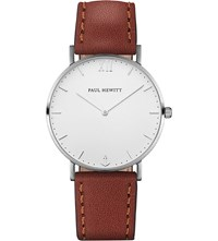 Paul Hewitt Sailor Line Stainless Steel And Leather Watch