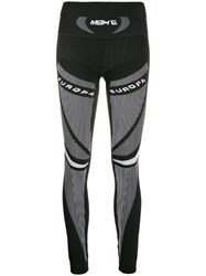 Misbhv Two Tone Stretch Fit Leggings Black