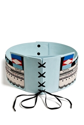 Olympia Le Tan Embroidered Leather Sailor Belt