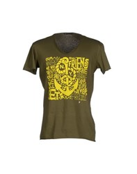 Daniele Alessandrini Topwear T Shirts Men Military Green