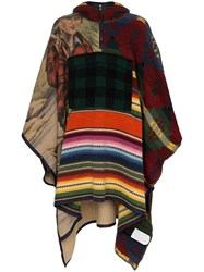 Polo Ralph Lauren Patchwork Hooded Poncho Blue