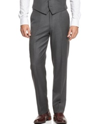 Ryan Seacrest Distinction Grey Striped Slim Fit Pants