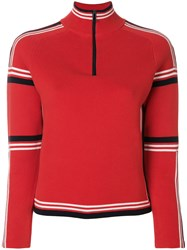 Paul Smith Ps By High Neck Sweater Red