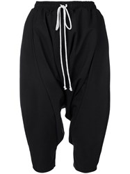 Alchemy Drop Crotch Cropped Trousers Black
