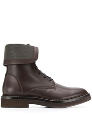 Brunello Cucinelli Foldover Ankle Boots Brown