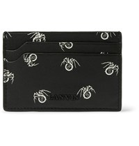 Lanvin Printed Leather Cardholder Black