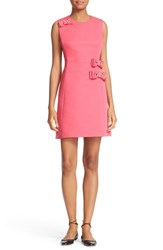 Kate Spade Women's New York Embellished Bow Faille A Line Dress