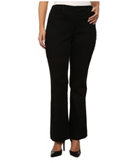 Nydj Plus Size Plus Size Michelle Trouser Slick Twill Black Women's Casual Pants