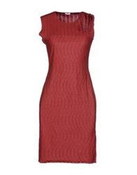 Malo Short Dresses Brick Red