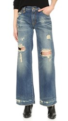R 13 The Jane Wide Leg Jeans Disco Blue