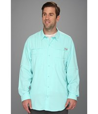 Columbia Big Tall Tamiami Ii L S Gulf Stream Men's Long Sleeve Button Up Blue
