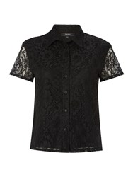 Therapy Lace Boxy Shirt Black