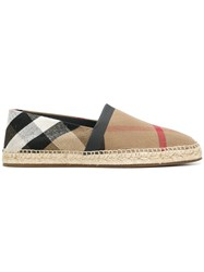 Burberry Check Espadrilles Nude And Neutrals
