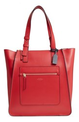 Smythson Hero Leather Tote Red