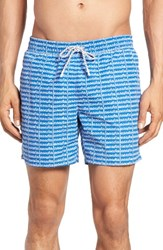 Lacoste Men's Logo Print Swim Trunks