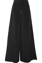 Cushnie Et Ochs Silk Crepe De Chine Wide Leg Pants Black