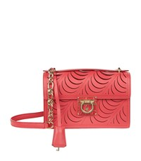 Salvatore Ferragamo Aileen Ruched Shoulder Bag Female Red