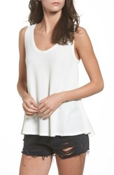 Sun And Shadow Women's Washed Thermal Tank Ivory Egret
