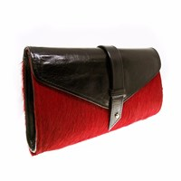 Nadia Minkoff The Newington Red Pony With Black Red Black