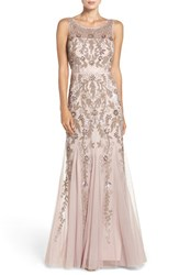 Adrianna Papell Women's Embellished Mesh Mermaid Gown